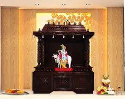 棕色木传统寺庙为家
