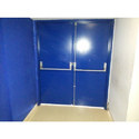 Blue Standard Panic Bar Double Leaf Door