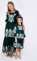 Embroidered Mother & Daughter Matching Long Dress
