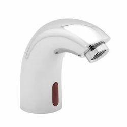 Silver Brass Sensor Wash Basin Tap
