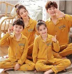 Printed Sleepwear Night Suit Dress Family Set Or Single Pack
