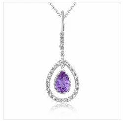 Silver Color Diamond Necklaces