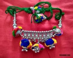 Women's Baju Band with Pom Pom - Navratri Special Jewellery