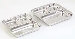 Square Stainless Steel Food Plate