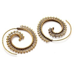 Handmade Gorgeous Micron Gold Plated Chand Bali Hoop Earring Jewelry For Womens