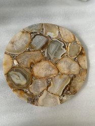 Round Agate Table Top
