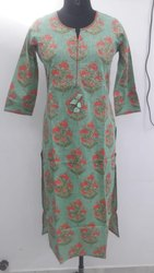 Cotton Slub Kurtis With Palazzo Women Dress