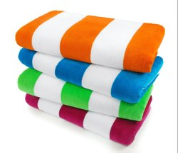 Rectangular Cotton Beach Towel, Packaging Type: Packet