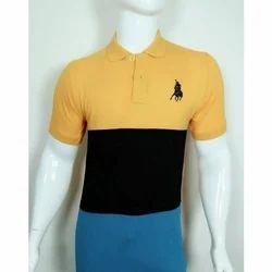 Mens Half Sleeve Logo Printed Polo T Shirt