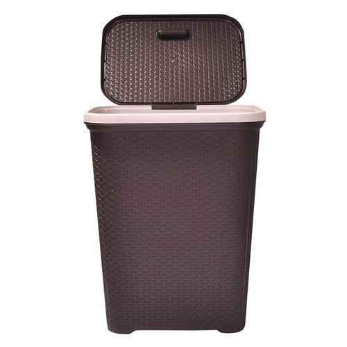 Plastic Nill Dark Brown Laundry Basket