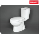 Floor Mounted Closed Front Somany Two Piece Toilets - Kamp - S Trap