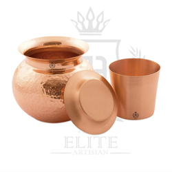 Pure Copper Lota with Plate Glass