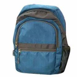 Polyester Plain Blue School Backpack