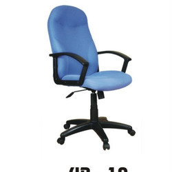 Medium Back Blue Office Chair