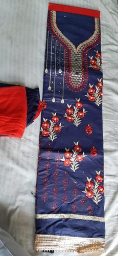 Embroidered Cotton Suits for Dress