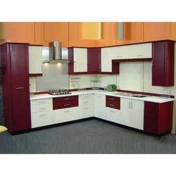 Elegant L Shaped Modular Kitchen