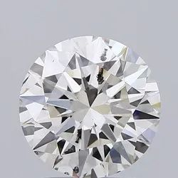 2.01ct Lab Grown Diamond CVD I SI2 Round Brilliant Cut IGI Certified Stone