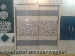 Saint Gobain Blue Wardrobe Slider Glass