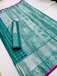 Banarasi Silk Saree With Blouse Piece