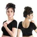 Abhi Stretchable Soft Velvet With Half Sleeves Ladies Blouse