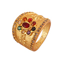 Lotus Navratana AD Ring