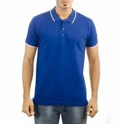 Gents Collar Neck Royal Blue T Shirts