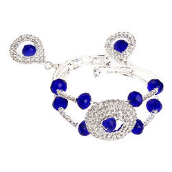 Lady Touch Diamond Adjustable Blue Bracelet for Girls