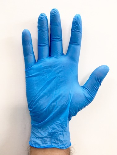 Blue Latex Nitrile Examination Hand Gloves Per Box