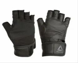 Black & Grey Unisex Reebok Training Gloves