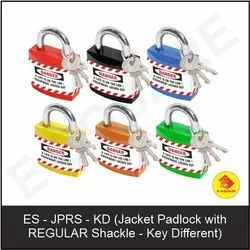 E-Square Safety Lockout Jacket Padlock With Regular Shackle, Padlock Size: 40 mm, Packaging Size: <10 Piece