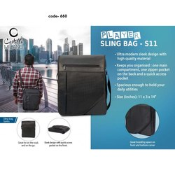 Black Player Sling Bag