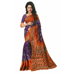 Ramapir Fashion Women's Wear Flower Kery  Bandhani Saree