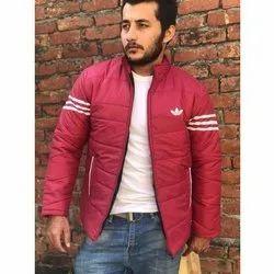 Full Sleeve Collar Neck Mens Parachute Fabric Jacket, Size: M-XXL