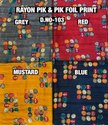 Rayon Pik N Pik Foil Print Fabric