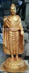 Standing Golden Fiberglass Buddha Statues, Size/Dimension: 5 Feet