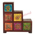 Painted Handicraft Wooden Box