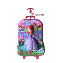 Gocart Multicolor Girls School Trolley Bag
