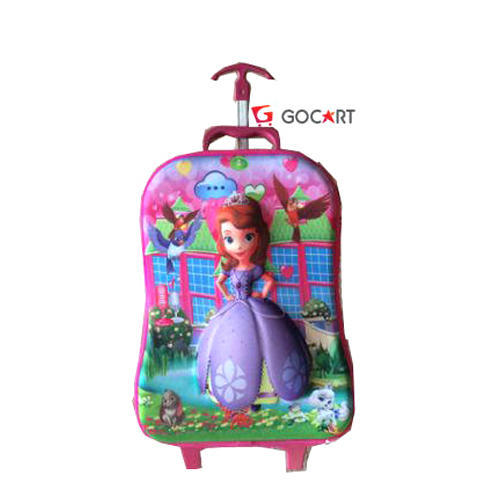 Gocart Multicolor Girls School Trolley Bag