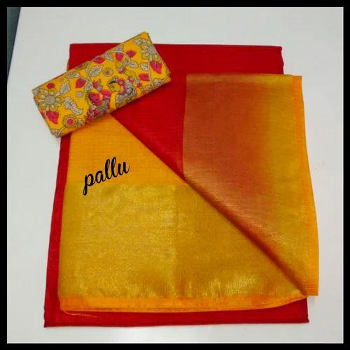 18afa0aea46da Kalamkari Blouse Cotton Pure Manipuri Kota Silk Saree