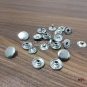 12mm Brass Spring Snap Button Nickel For Home Furnishing & Curtains