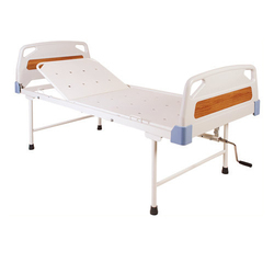 White Plastic Hospital Semi Fowler Bed
