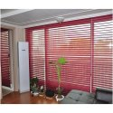 Polyester Red Triple Shade Blind