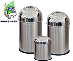 Parasnath Stainless Steel Push Dustbin