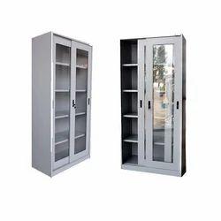 6.5 Feet Mild Steel Steel Almirah Glass Door