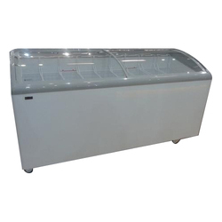 Curved Glass Chest Freezer