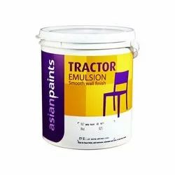 Smooth White Asian Paints Tractor Emulsion Paint, For Interior Walls, Packaging Type: Bucket