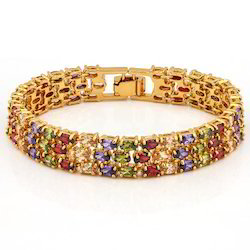 Multi Color Silver Bracelet