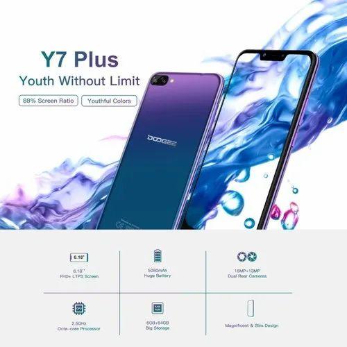 DOOGEE Y7 Plus, 6GB 64GB, 6 18 inch, Phablet, 4G, OTG, OTA, Dual SIM