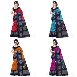 Bhagalpuri Silk Saree With Blouse (5.25 Meters   0.75 Meters)