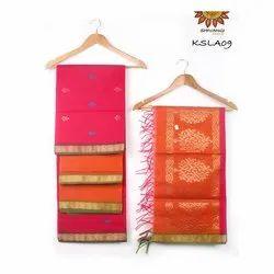 KSLA09 Handloom Semi Kora Silk Salwar Set